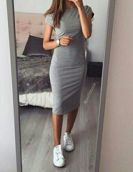 dress with stan smith shoes