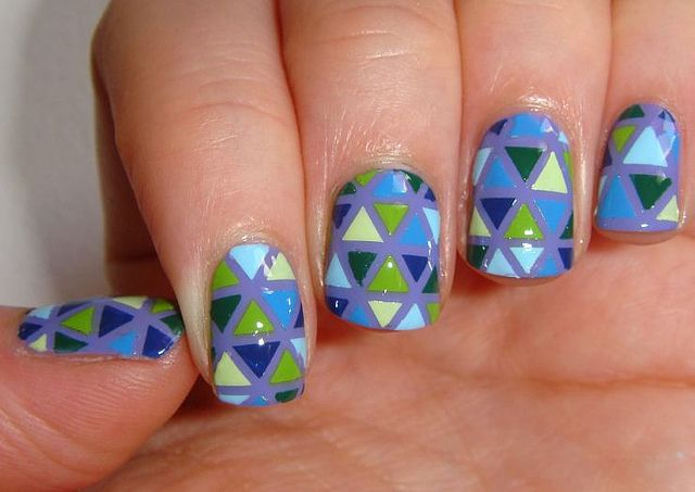 Taped Triangle Nails By Tinkapebbles Via Flickr Nail