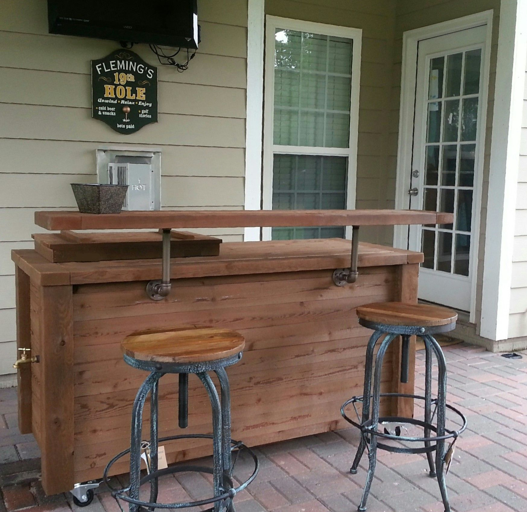 Outdoor Cooler Bar And Cabinet Scheduled Via Http Www Tailwindapp Com Utm Source Pinterest Utm Outdoor Patio Bar Bar Height Patio Furniture Diy Outdoor Bar