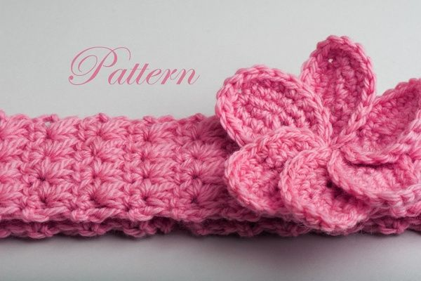 Crochet Headband Plumeria Crochet Baby Headbands Headband Pattern