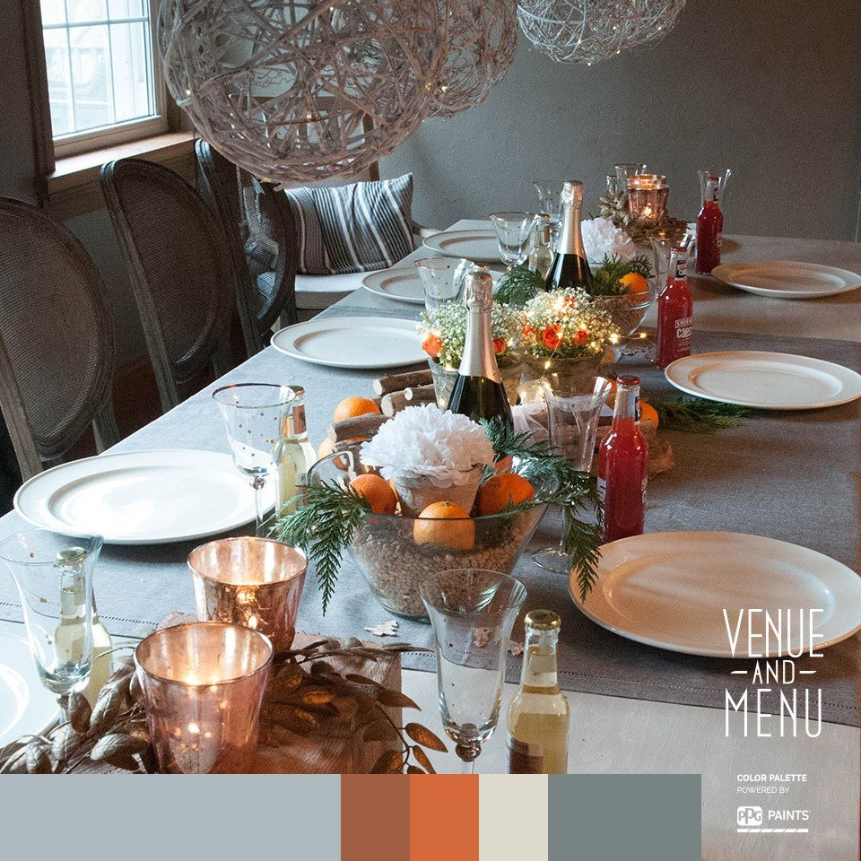 You are hosting again (we know it is always you) and you want to make it fresh. Don't overthink it. Use what you have - glass bowls, wood sticks adorned with greeneries, fruits, flowers, and of course, candles to make your table glow. #festivetable #venueandmenu