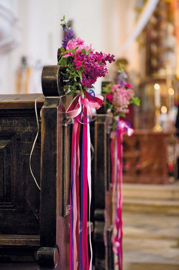 Photo of Hochzeitsdeko Kirche: 65 zauberhafte Kirchendeko-Ideen
