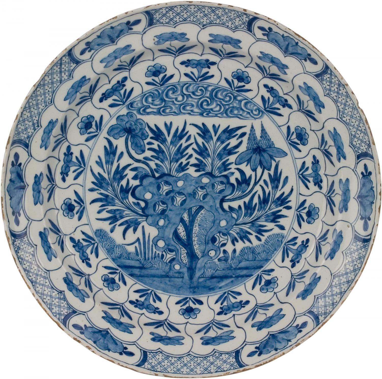 Antique Plate Delft Greek Blue Blue And White China Blue Ceramics