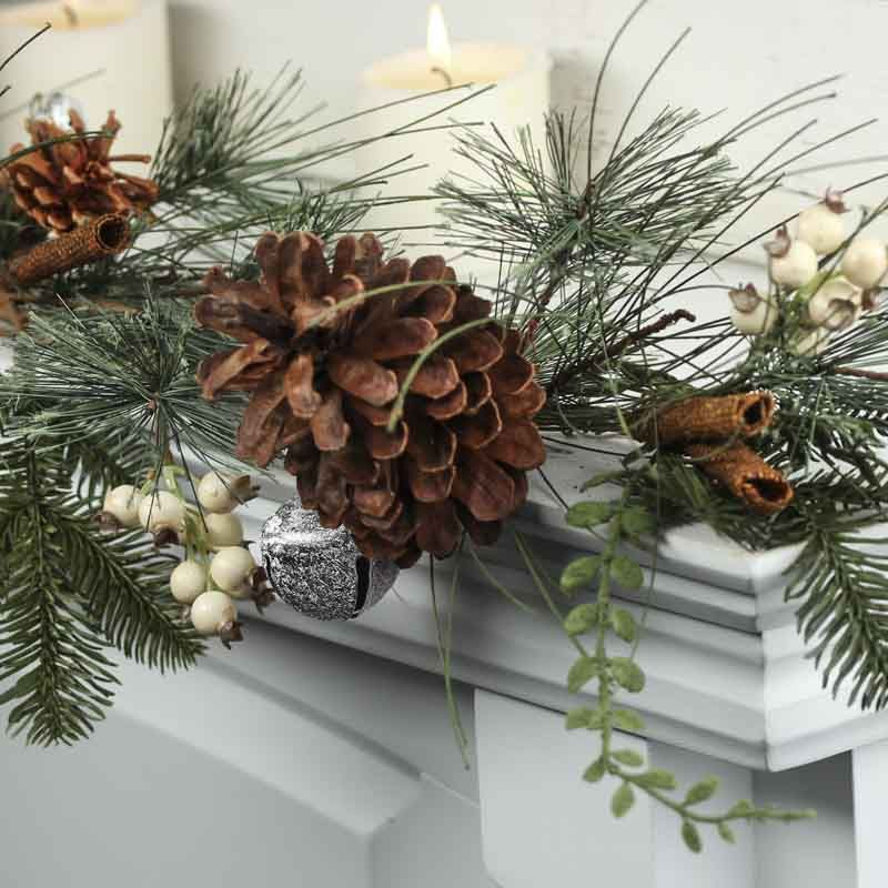 Country Snowberry and Faux Cinnamon Stick Garland - Christmas Garlands - Christmas and Winter - Holiday Crafts