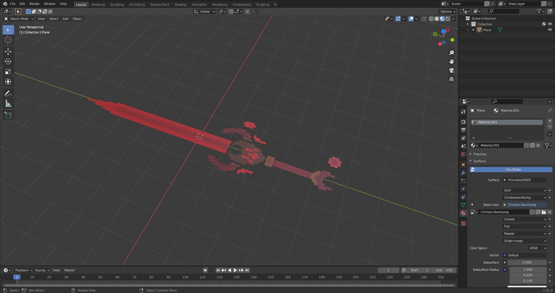 Crimson Sword (Blender 3D)