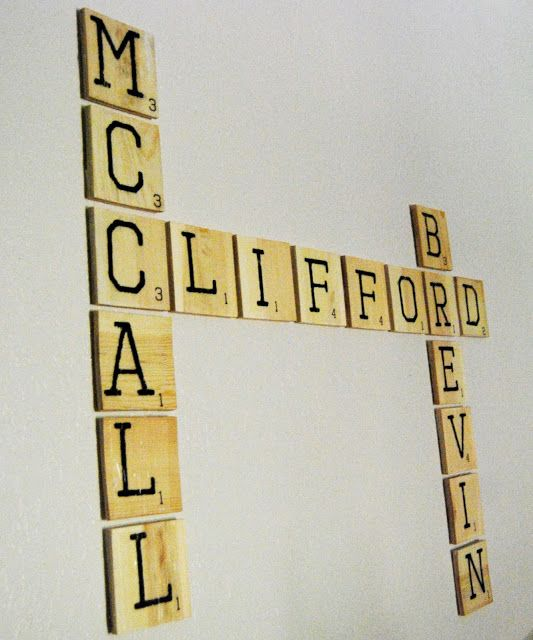 WhatchaMcCallit DIY Scrabble Tile Wall Art/ yay read