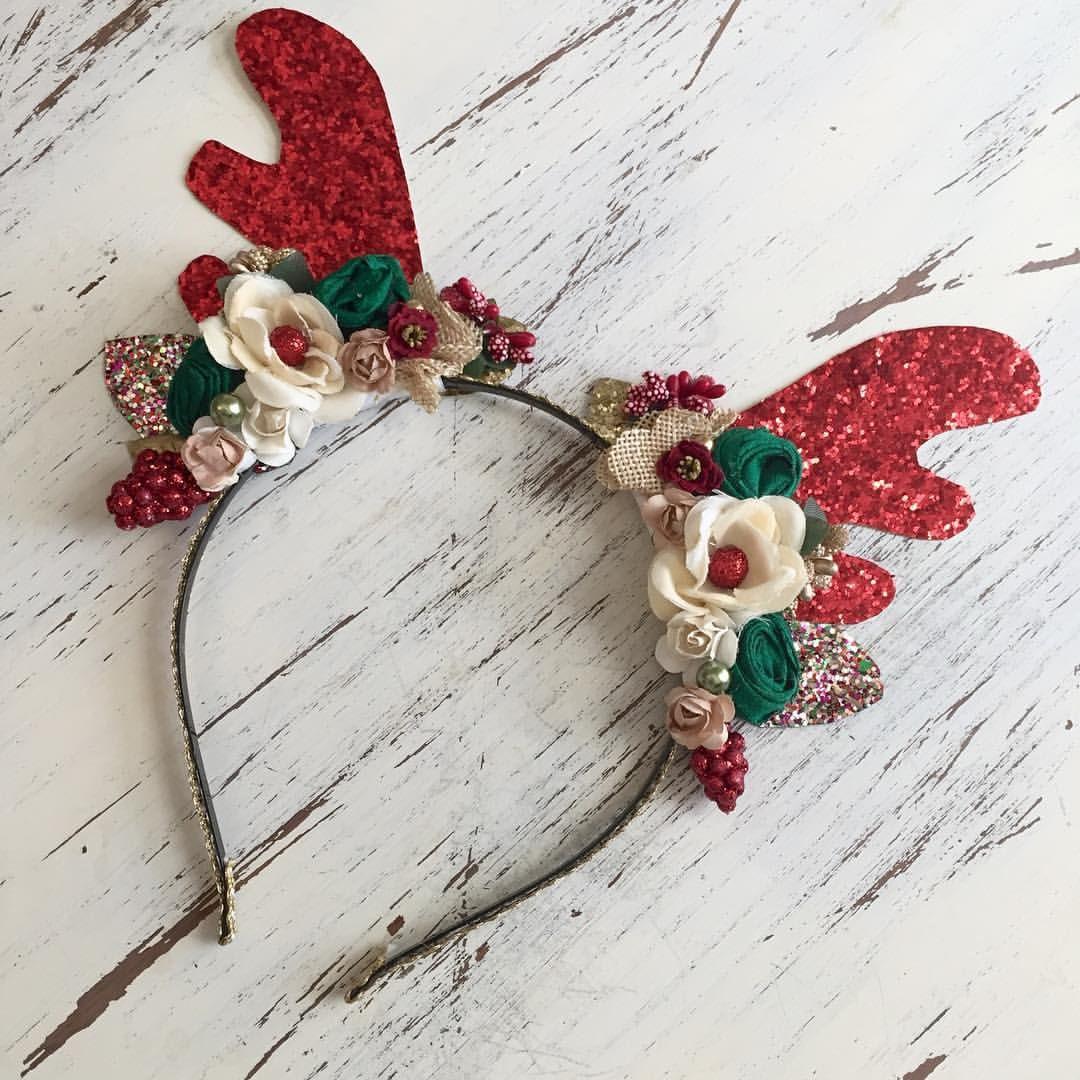 Reindeer antlers headbands christmas pinterest for Reindeer antlers headband craft