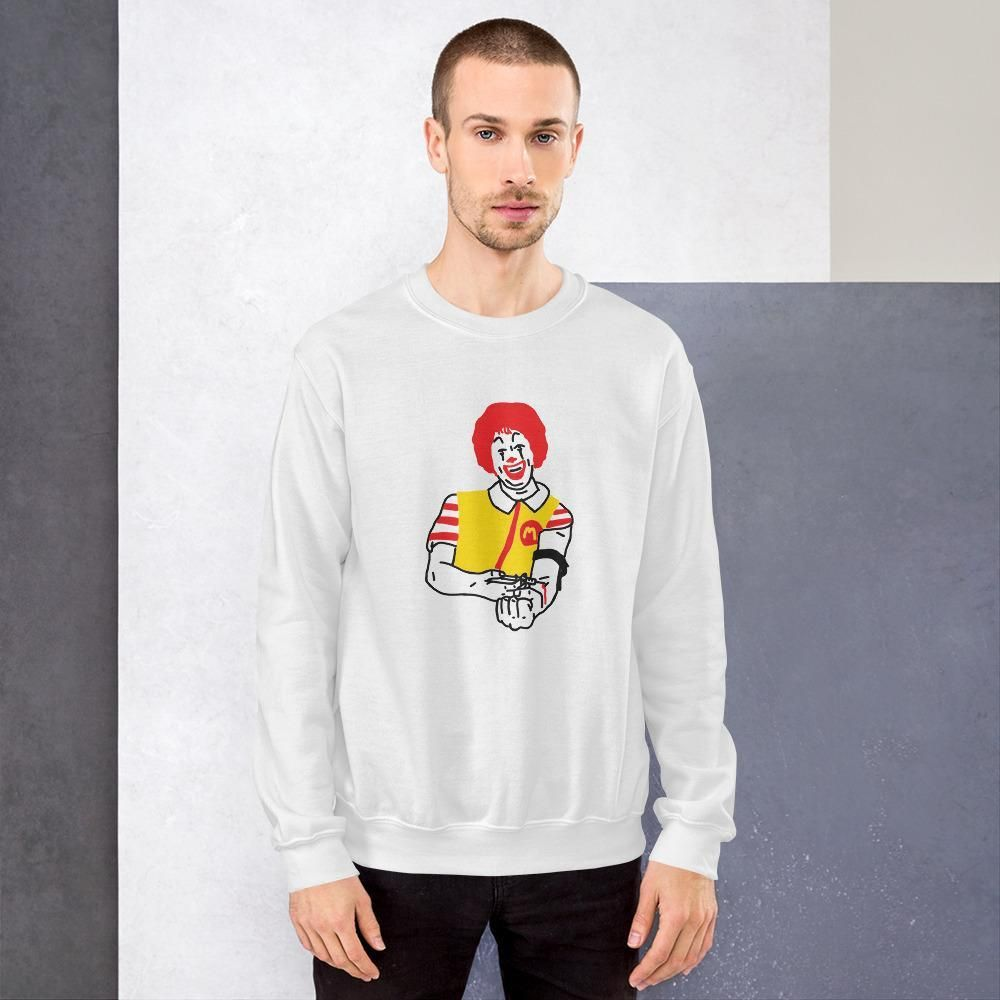 Limited Edition Sweatshirt by Tattoo artist Bad Paint    Free Shipping - Quality prints made in the US.    A sturdy and warm sweatshirt bound to keep you warm in the colder months. A pre-shrunk, classic fit sweater that's made with air-jet spun yarn for a soft feel and reduced pilling.    • 50% cotton, 50% polyester  • Pre-shrunk  • Classic fit with no center crease  • 1x1 athletic rib knit collar with spandex  • Air-jet spun yarn with a soft feel and reduced pilling  • Double-needle stitched co