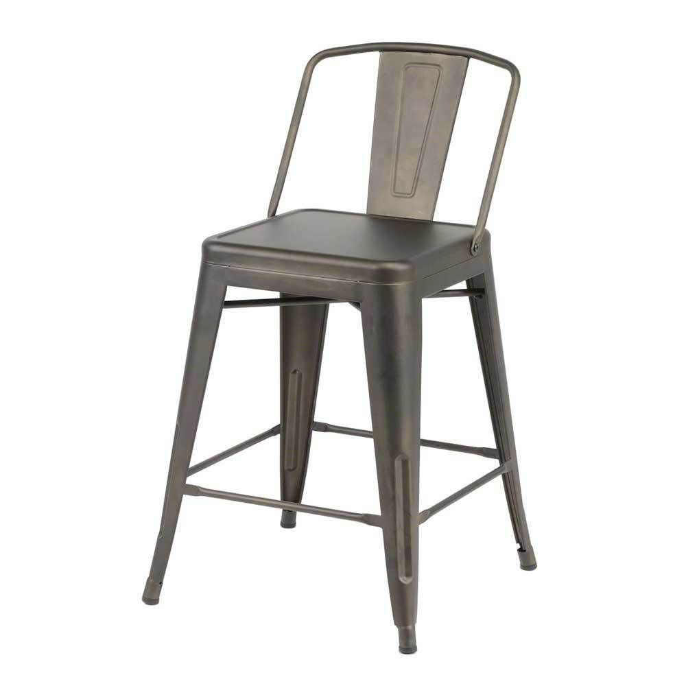Tresenstuhl Aus Metall Industriedesign (4er Set) | Küche Und Esszimmer U003e  Bar Möbel