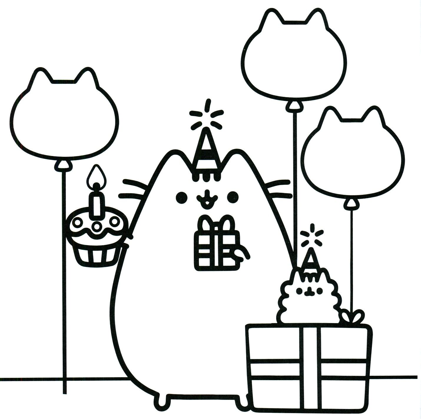 Printable Pusheen Coloring Book Pusheen Pusheen The Cat Dibujos Kawaii Para Imprimir Dibujos Kawaii Dibujos Para Pintar