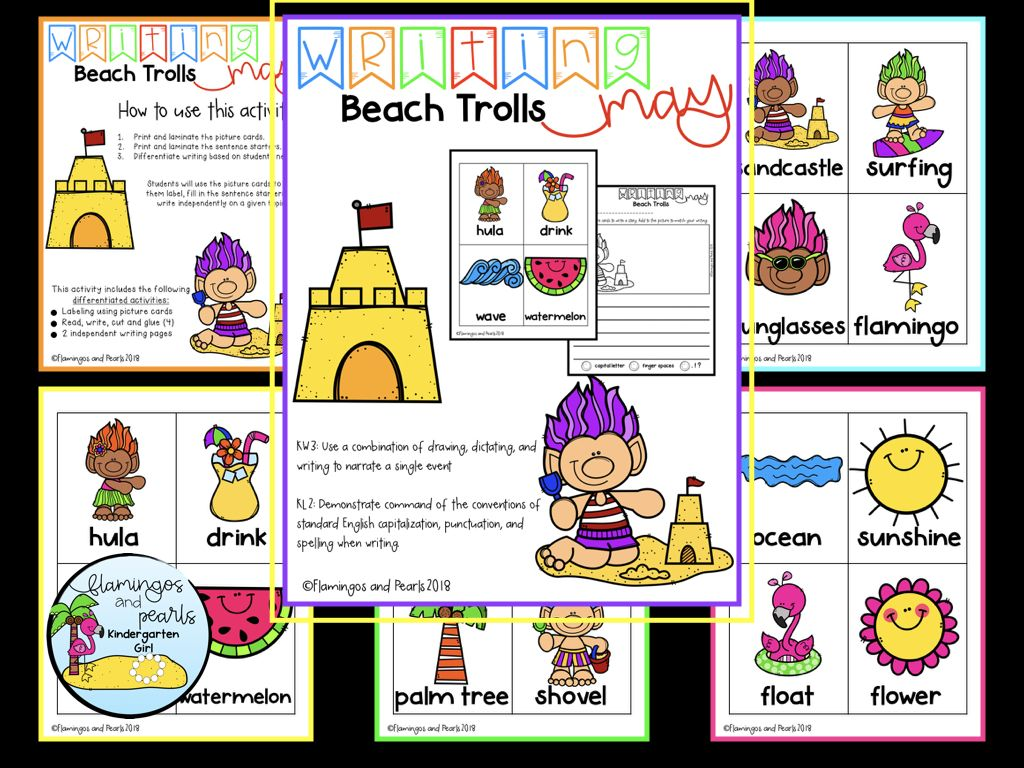 Differentiated Writing With Picture Cards Kindergarten May