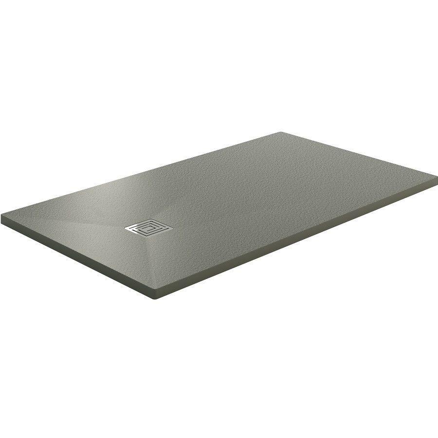 Receveur de douche extra plat resitec rock 90x120 surface - Bac a douche extra plat 90x120 ...