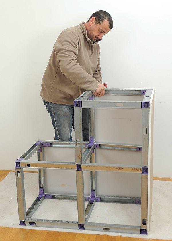 Meuble placo 23 en 2019 mobilier de salon plaque de platre et deco placo - Meuble tv cloison ...