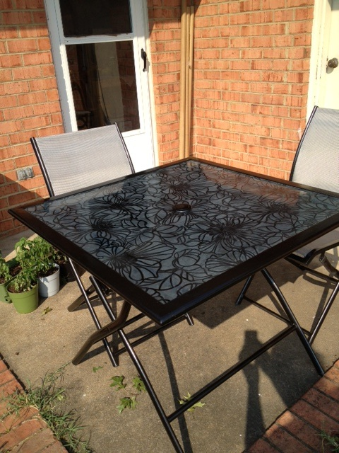 Refresh Renew Restyle Decoupage Glass Tabletop Patio Table