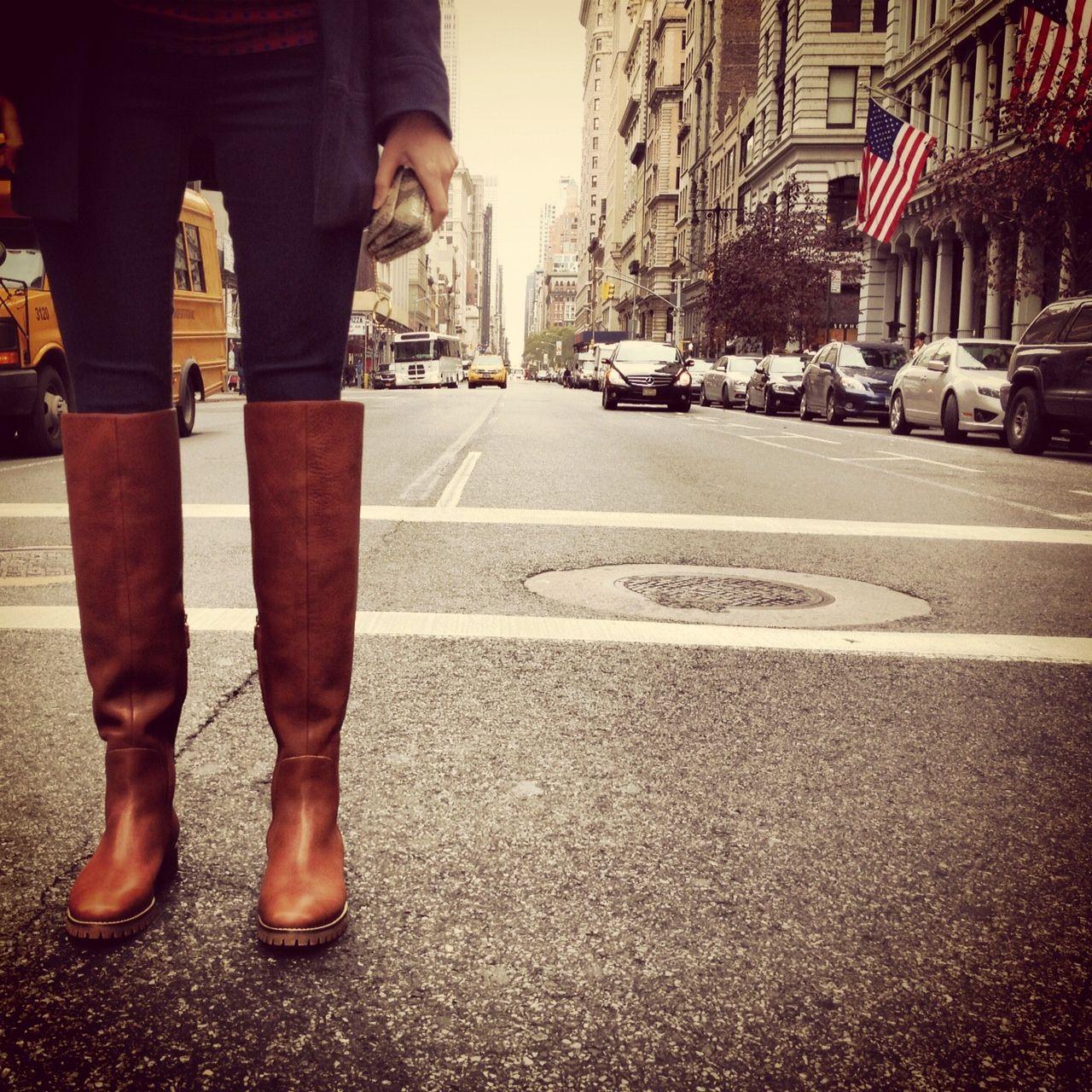 Waterproof knee high boots
