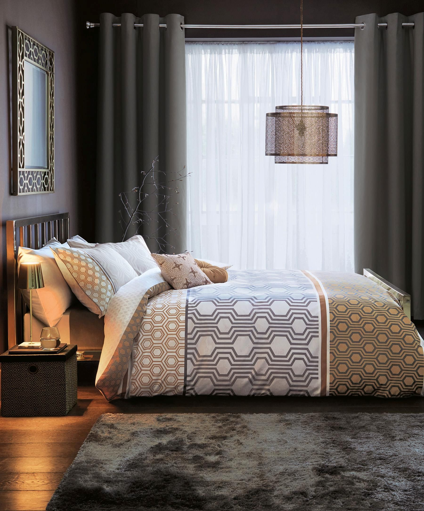 Next Home Bedroom Buy Cotton Rich Luxe Geo Stripe Bed Set From The Next Uk Online