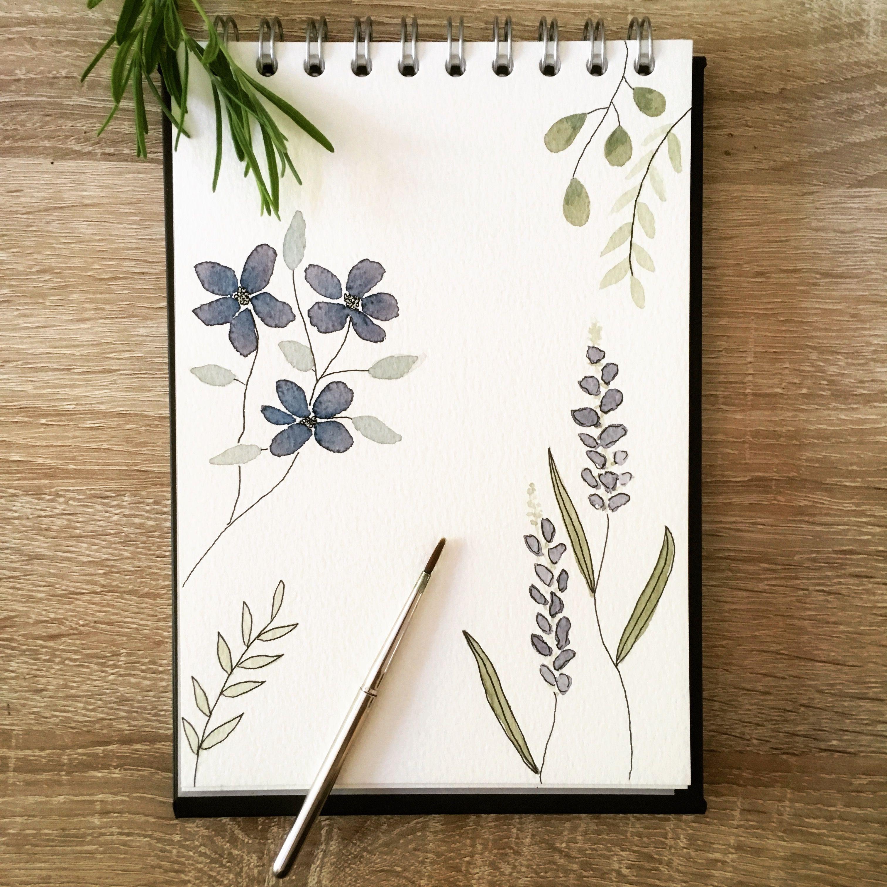 Pflanzen Illustration Malen Aquarell Blumen Floral Botanical