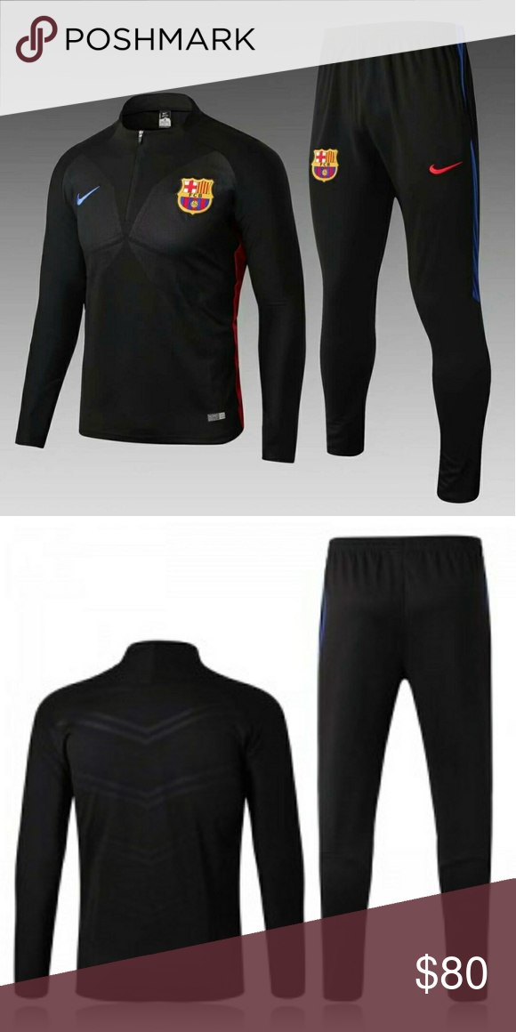 e464c9f326d FC BARCELONA HIGH-NECKED TRACKSUIT BLACK 17-18 This a brand new fc barcelona  HIGH-NECKED TRACKSUIT BLACK SET 17-18 Nike Sweaters Crewneck