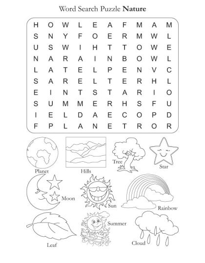 free word search puzzle nature english worksheets word puzzles word puzzles for kids kids. Black Bedroom Furniture Sets. Home Design Ideas