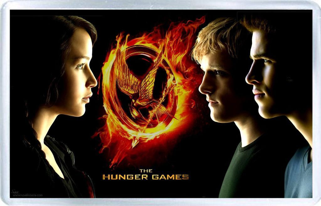 The Hunger Games . Fridge Magnet in acrylic. Size (Approx ...