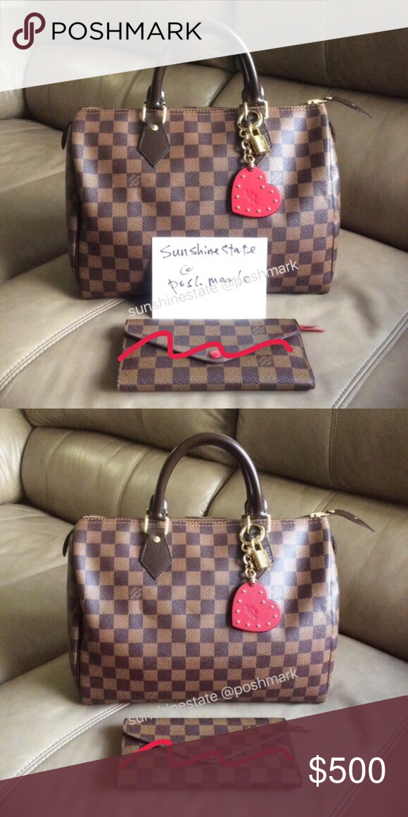 c56d650dd43c Louis Vuitton Speedy 30 Damier Ebene like new Price is firm on Poshmark  site. You