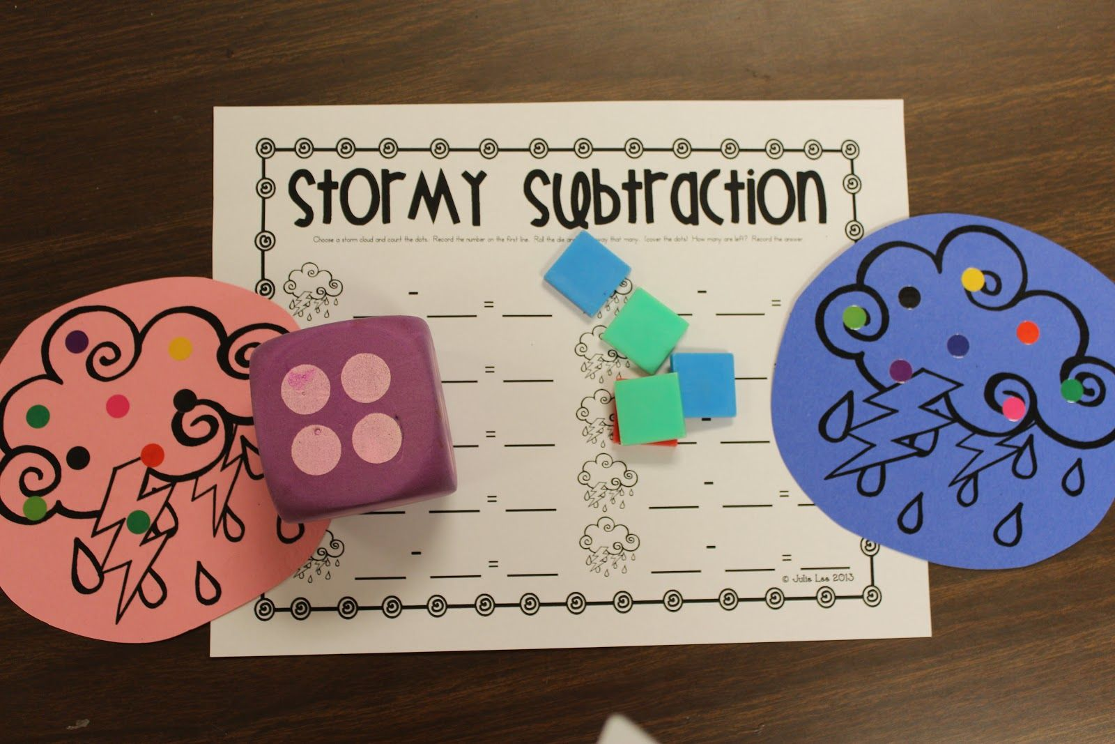Stormy Subtraction Ey Have To Count The Dots On The