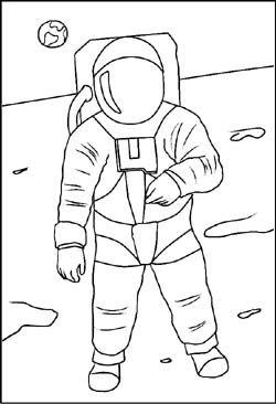 Weltraum Gratis Malvorlagen Und Ausmalbilder Astronaut Zeichnung Ausmalen Weltraum