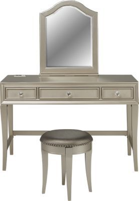 Sofia Vergara Petit Paris Champagne Vanity, Mirror And Stool Set Vanity Desk:  X X Vanity Mirror: X Stool: X Find Affordable Vanity Sets For Your Home  That ...