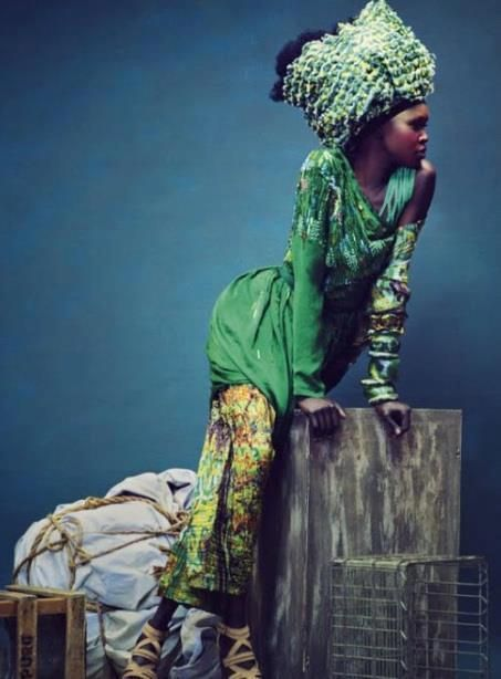 Alek Wek during Africa Fashion Week 2013-New York