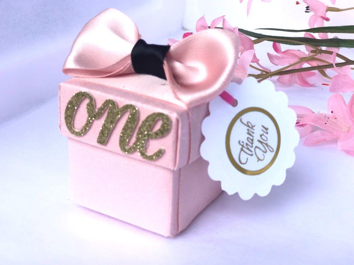 10 Pink Favor Box, Baby Shower Favor Box, Wedding favor box, Bridal ...