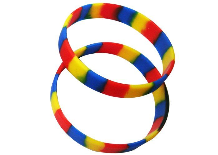 Colored Silicone Segmented Customized Rubber Wristbands At Www Firstclwristbands Best Offer