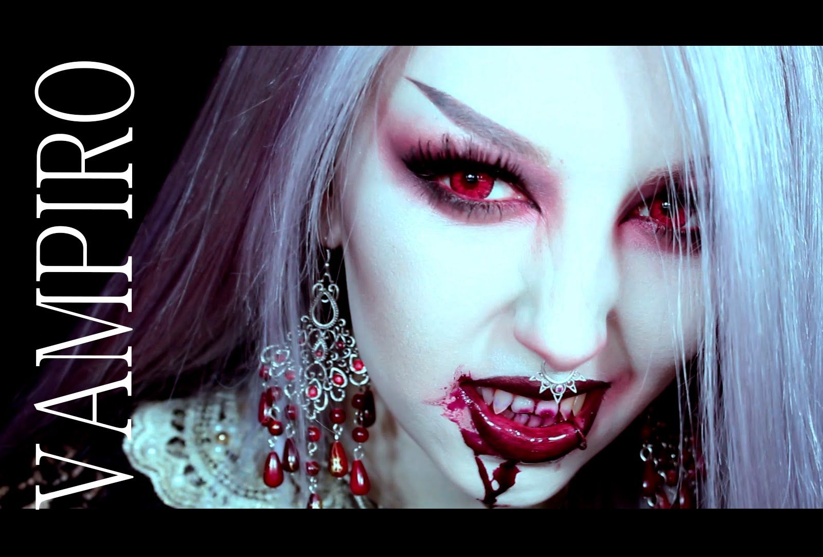 HALLOWEEN MAKEUP :  VAMPIRO [ parte1 ]  Vampire makeup