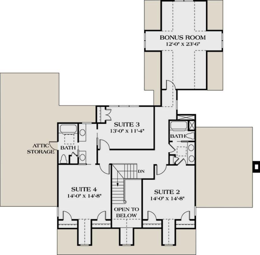 House plan 332300313 southern plan 3338 square feet