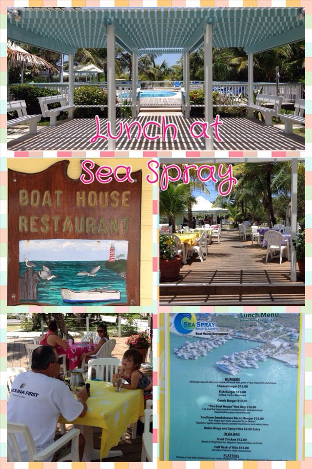 Sea Spray Resort and Marina is located south of Hope Town settlement on the island of Elbow Cay in the Abaco region of the Bahamas. They offer a breakfast, lunch and dinner menu as well as full service bar. They have a gift shop and beautiful pool area with gazebo bar. Enjoy watching the boats come in after a long day on the water, order a meal and a drink, or take in their Junkanoo/Goombay festival held several times throughout the summer.