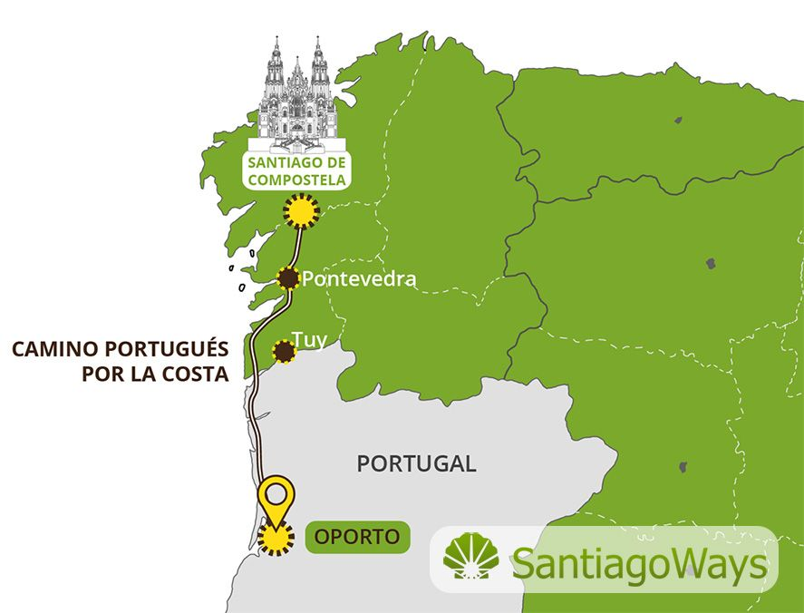 The Camino Portugues Coastal Route Camino De Santiago Route