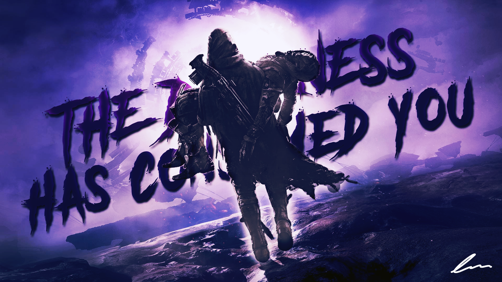 "Destiny 2: Forsaken Wallpaper - ""The darkness has consumed you."""