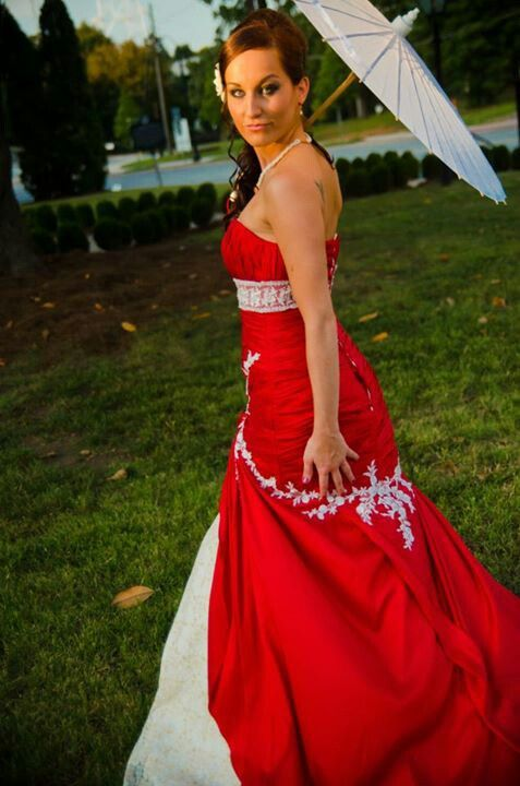 Maggie Sottero Amara Mermaid Wedding Gown Royal Red With Gold And