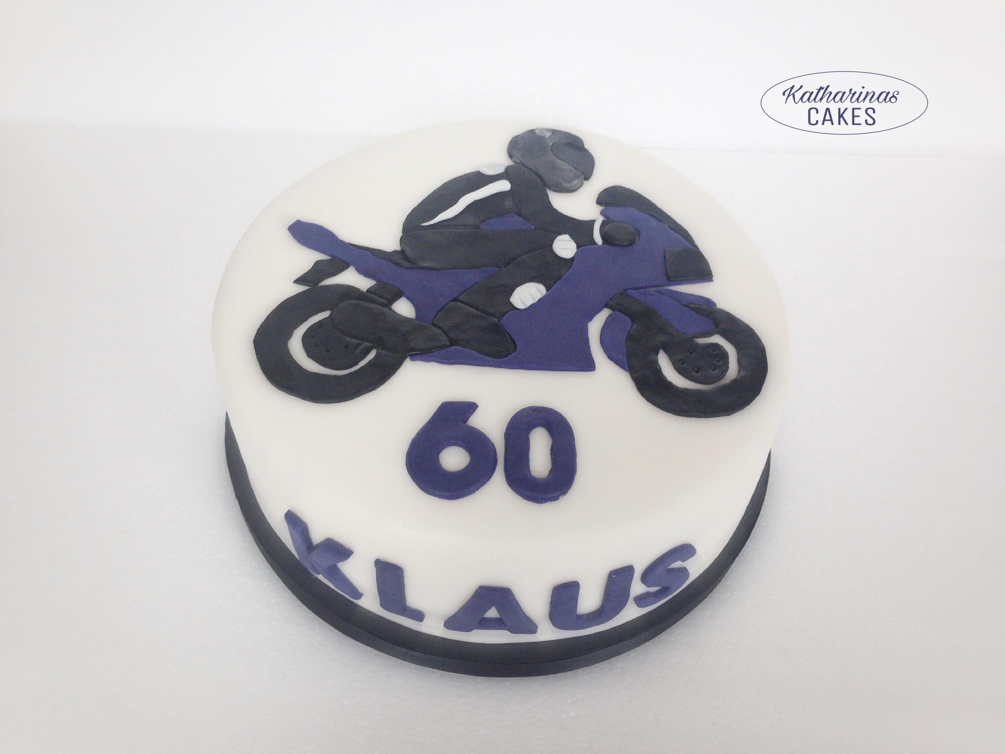 motorrad torte motorbike cake 60 geburtstag blaues motorra motivtorten fondanttorten. Black Bedroom Furniture Sets. Home Design Ideas