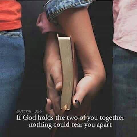 As fun and silly and flirty and more as we can get baby girl (;) ) I want God to be at the center of our relationship. I want us to bring one another closer to him. And for his will to be worked out in our lives. We're both imperfect people. But we can both still serve and love God.