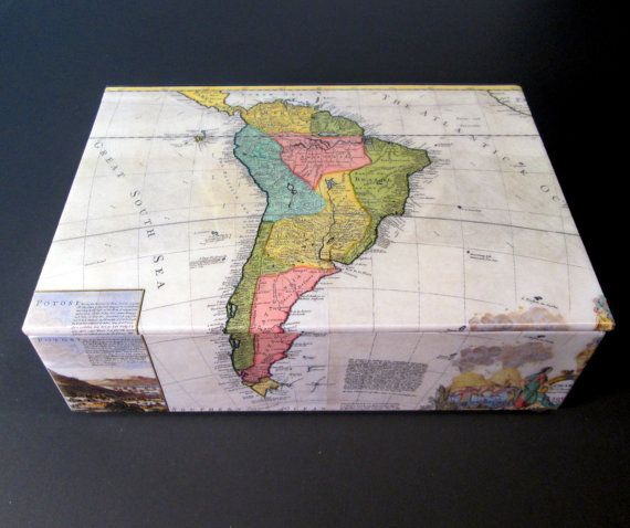Old map of south america decorative box keepsake by theboxshop1618 old map of south america decorative box keepsake by theboxshop1618 gumiabroncs Image collections
