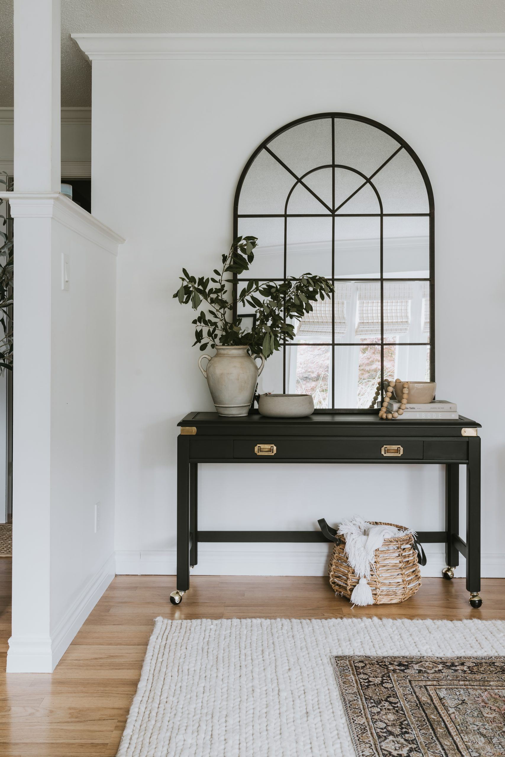 Photo of Traditional Black Sofa Table Transformation – Jessica Sara Morris
