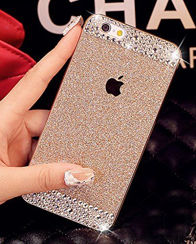 iAnko® Gold Bling Rhinestone Diamond Crystal Glitter Bling Hard Case Cover Shell Phone Case for Iphone 6 4.7 Inch (hard Case) iAnko http://www.amazon.com/dp/B00PL9ZT56/ref=cm_sw_r_pi_dp_aCYOvb0AQ9FPB