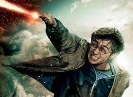 Harry Potter is having his final battle with Lord Voldmort