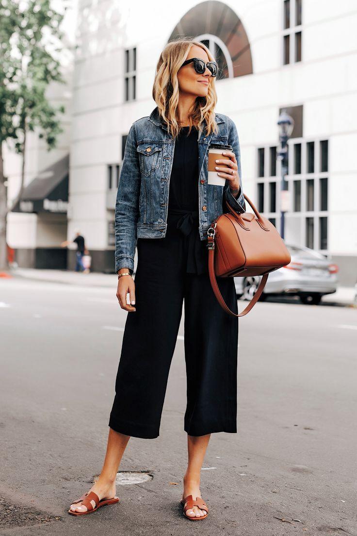 2 Effortless Ways to Wear a Black Jumpsuit | Fashi