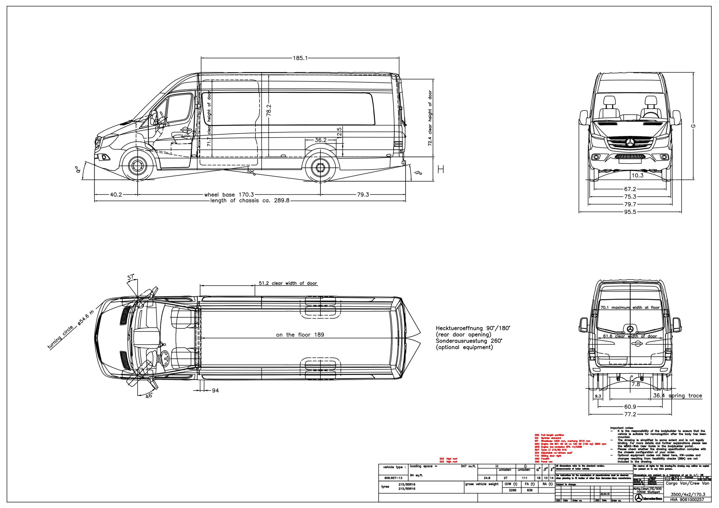 Grech Motors Mercedes Benz Sprinter Dimensions