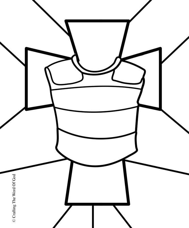 Breastplate Of Righteousness Coloring Page For Each The Pieces Armor