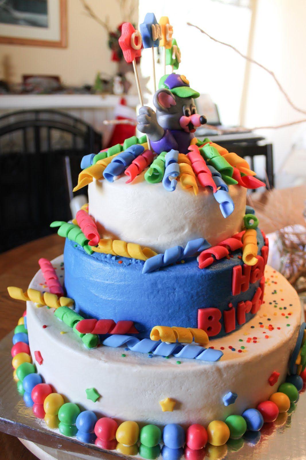 Boys chuck e cheese birthday cake chuck e cheese