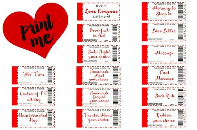 Free Printable Love Coupons The Perfect Gift is part of Diy birthday gifts, Love coupons, Diy gifts for boyfriend, Love coupons for him, Diy gifts for him, Coupons for boyfriend - Perfect DIY gift for you husband or boyfriend  Great frugal and crafty printable gift for Valentine's Day, Anniversary, Birthday, or just because