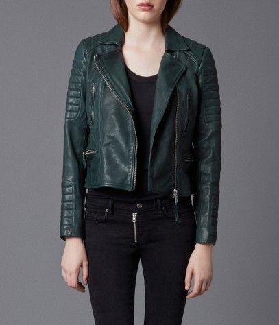 Forest Leather Biker Jacket Women Leather Allsaints Spitalfields