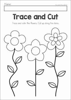 Spring Preschool Worksheets & Activities | Cutting practice ...